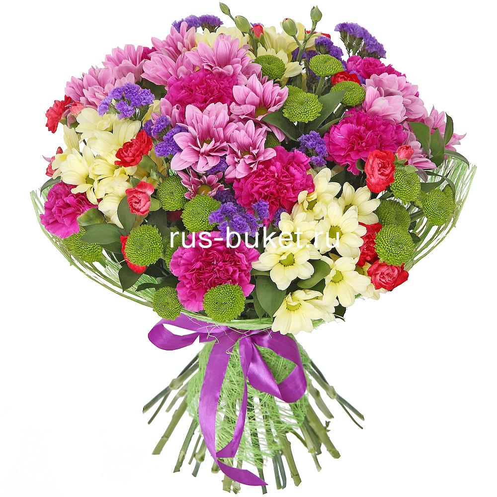Букеты из гвоздики и хризантем в купить екатеринбург, сердце